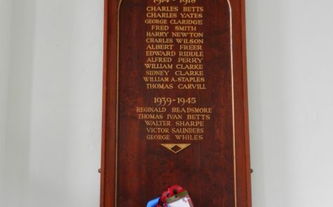 Sileby Primitive Methodist chapel war memorial