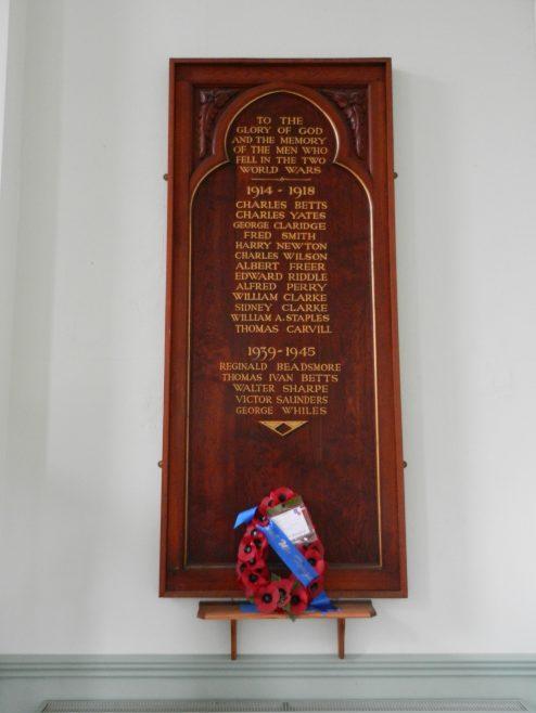 King Street Methodist chapel, Sileby. War memorial | Philip Thornborow