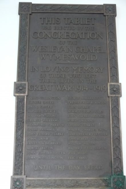 Wymeswold Wesleyan war memorial | Philip Thornborow