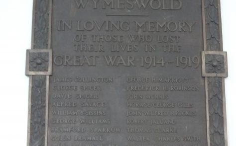 Wymeswold Wesleyan Chapel war memorial