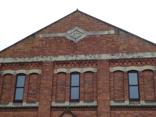Wellingborough Alma Street Independent Wesleyan Chapel, date and name 3.1.2019