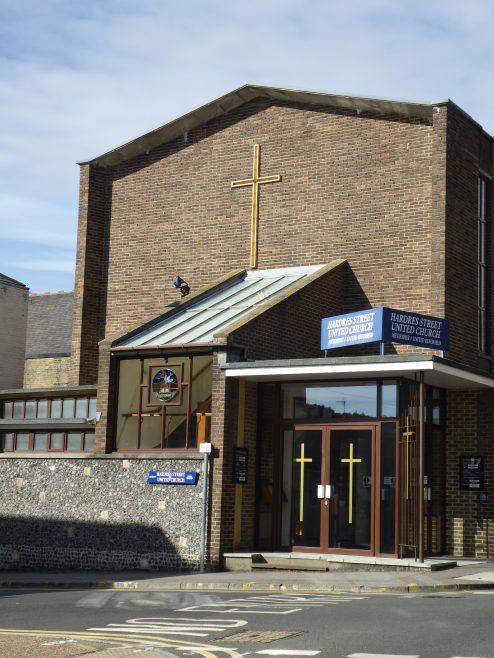 Ramsgate, Hardres Street,Methodist & URC chapel,south side and entrance, 13.10.2018