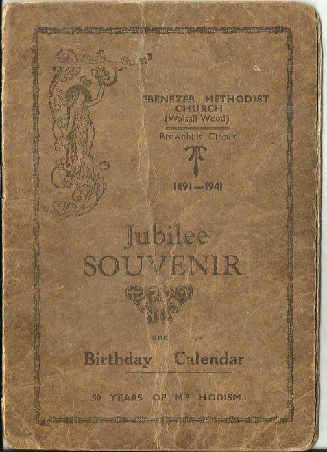 Walsall Wood Ebenezer Golden anniversary 1941 booklet part one