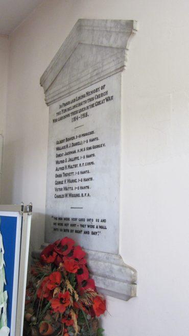 Cowes Methodist Church War Memorial