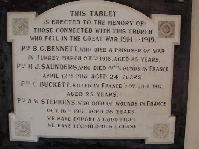 Porchfield Methodist Church War Memorial