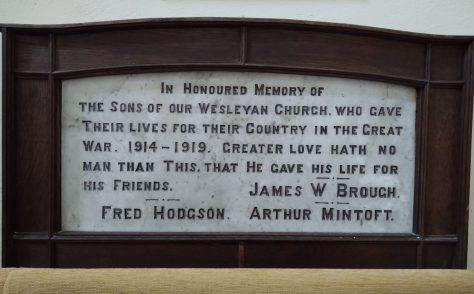 Middleton, Ryedale, Methodist Chapel Memorial