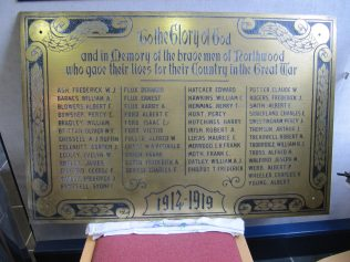 Gurnard Methodist Church WW I War Memorial - now in storage with Cowes Heritage