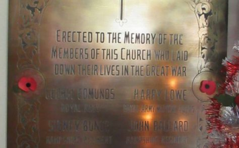 Shanklin Methodist Church War Memorial