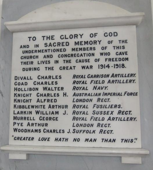 Hailsham Methodist Church War Memorial