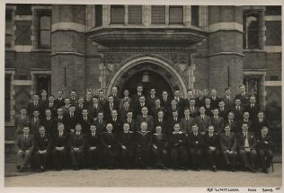 Students and Staff Handsworth Theological College 1948-1949. Rev. Brian Leslie Day fourth from Left back row