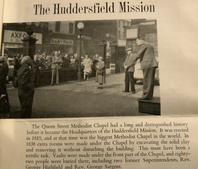 Evangelism by the HUDDERSFIELD Methodist mission in the 1950s