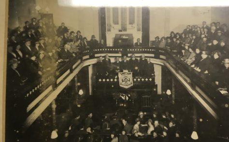Wesley Guild Rally in the Wesleyan Chapel at Callington, Cornwall, 1930s