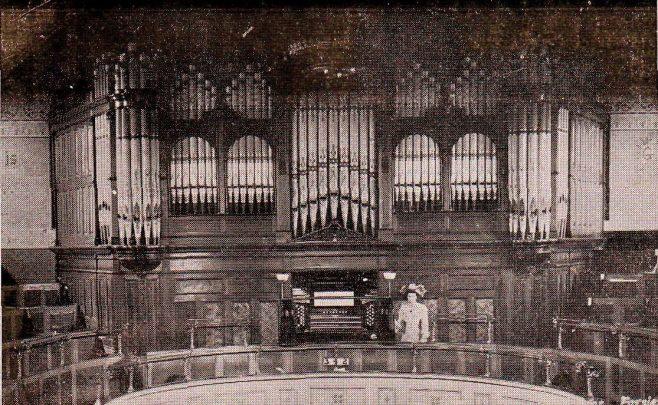 The organ which was inside Farsley Methodist Church