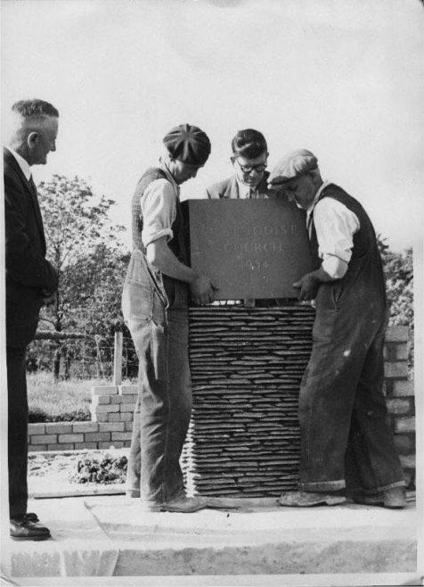 Sleagill Chapel foundation stone laying 1954