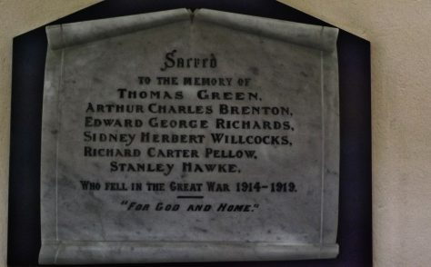 Par St Mary's Methodist WW1 War memorials
