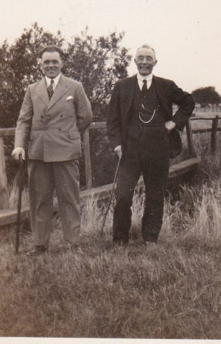 Frederick William Payne and his uncle, Frederick William Watson, taken between Ashwell and Cottesmore some time in the 1930s
