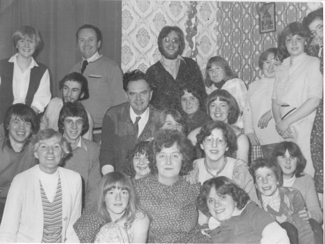 The 'youth squash' for the Abersychan/Garndiffaith part of Pontypool Circuit. Picture taken around 1978. The Rev'd Tom Drew is in the middle and his wife Brenda front left. | click to enlarge