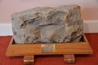 This stone was taken from the orignal Big Barn.  Demolished with the onset of the Mineral Railway Line.