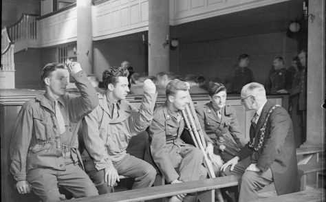 American Troops at the New Room, Bristol - July 1945