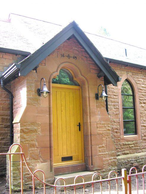 Armathwaite UMFC porch and date plaque | G W Oxley