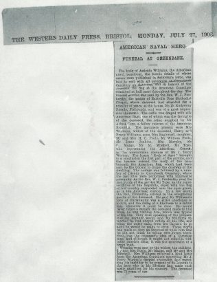 The Western Daily Press, Bristol, Monday, July 27, 1908 | click to enlarge