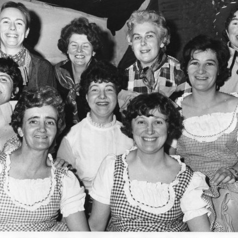 B21 Some of the cast of Bedford Road Methodist Church Wives Club during a variety show, St Ives, Cornwall
