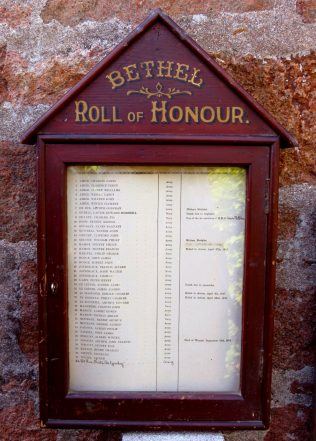 The Roll of Honour Cabinet | click to enlarge