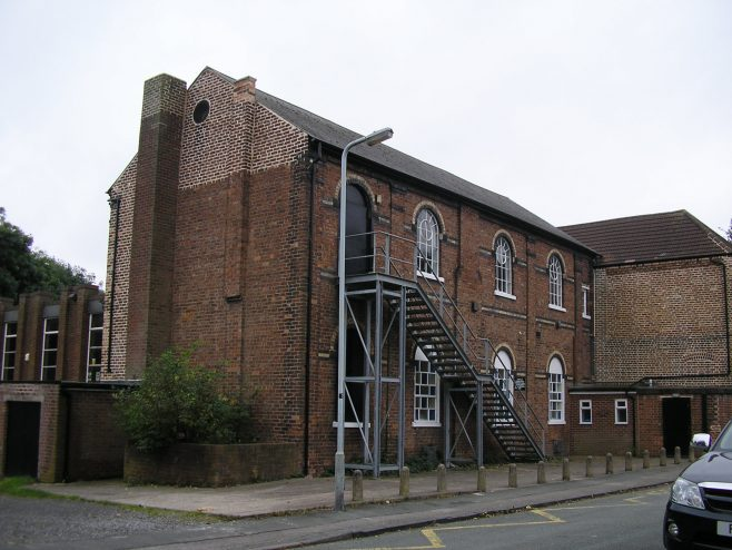 Bilston Methodist Chapel, rear and side of old chapel, 07.10.2016 | G W Oxley