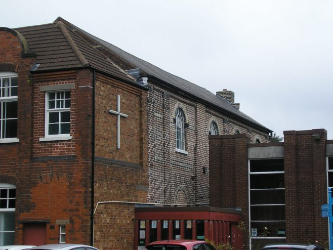 Bilston Methodist Chapel,building phases from l to r  1896 extension, old chapel, post war extension , 07.10.2016 | G W Oxley