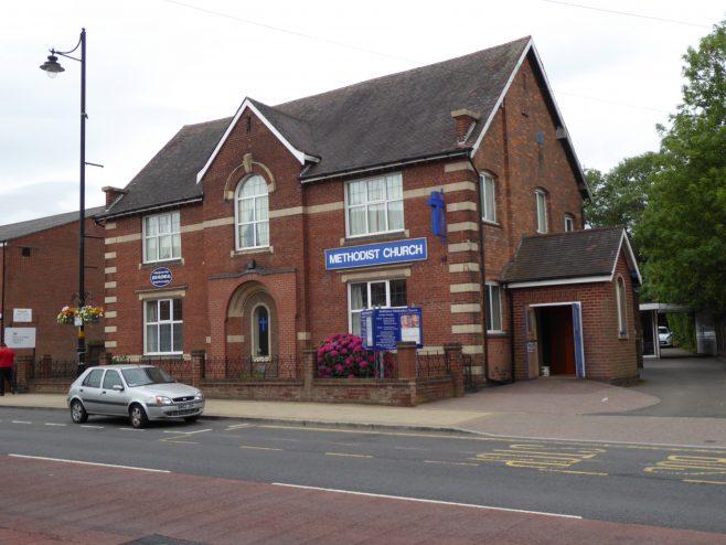 Birmingham, Boldmere, Methodist Chapel, facade, 18.07.2018   G W Oxley