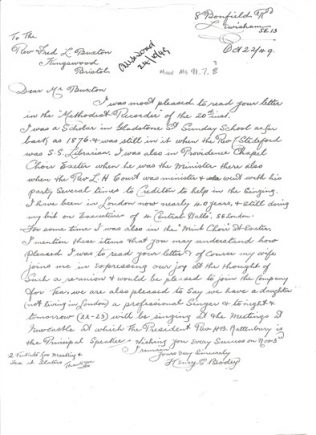 Letter dated 22 August 1949 | click to enlarge