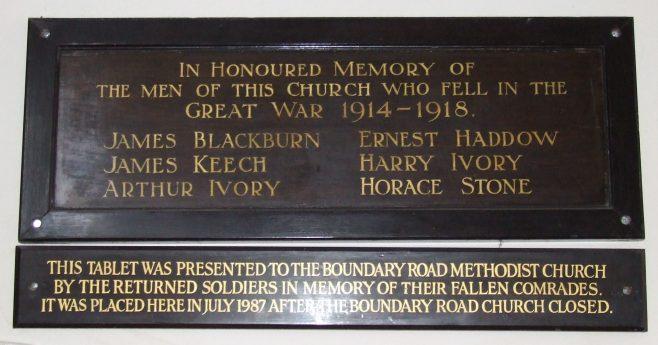 Boundary Road, St Albans (Closed) War Memorial