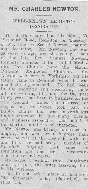 Samuel Newton 23 May 1830 - 1879