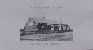 The original Big Barn Lane Church in 1933