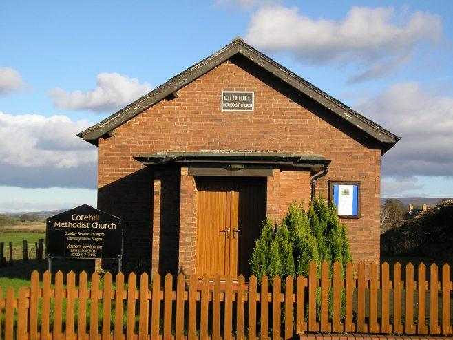 Cotehill Methodist Chapel facade, 10.2.2016 | G W Oxley
