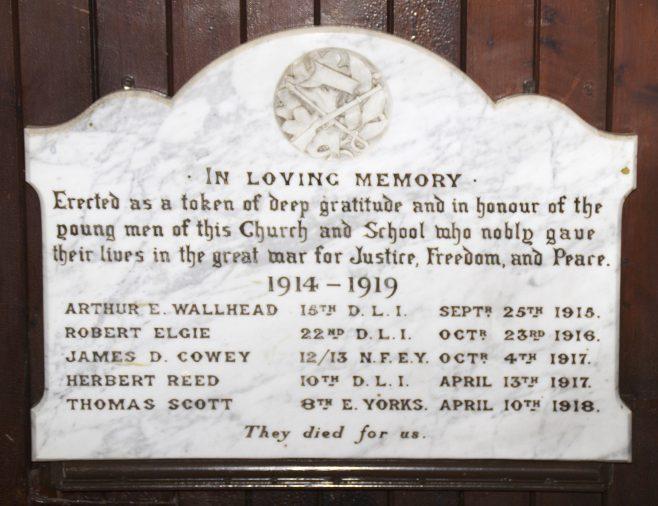 Coundon Memorial Plaque | Alan Bailey