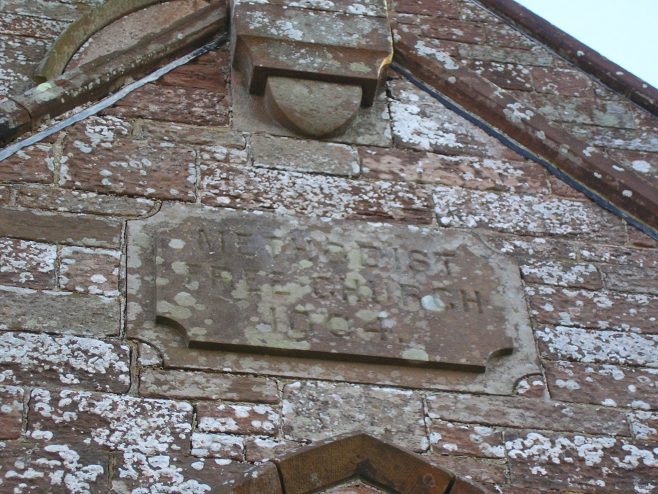 Cumwhinton Free Methodist Chapel date plaque, 10.2.2016 | G W Oxley