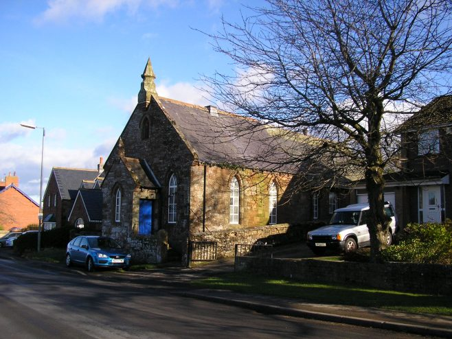 Cumwhinton Free Methodist Chapel from northwest, 10.2.2016 | G W Oxley