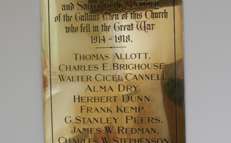 Hornsea Methodist war memorials