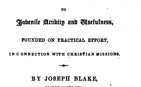 Joseph Blake, founder of the Juvenile Missionary Society