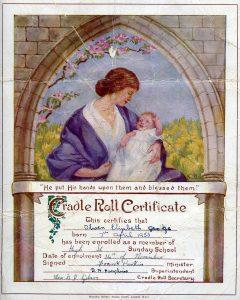 Cradle Roll Certificate-Olwen George