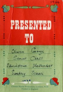 Sunday School prize-Olwen George
