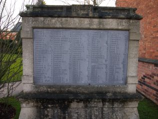 East Leake Roll of Honour (click to enlarge) | Roger Latham, 2012