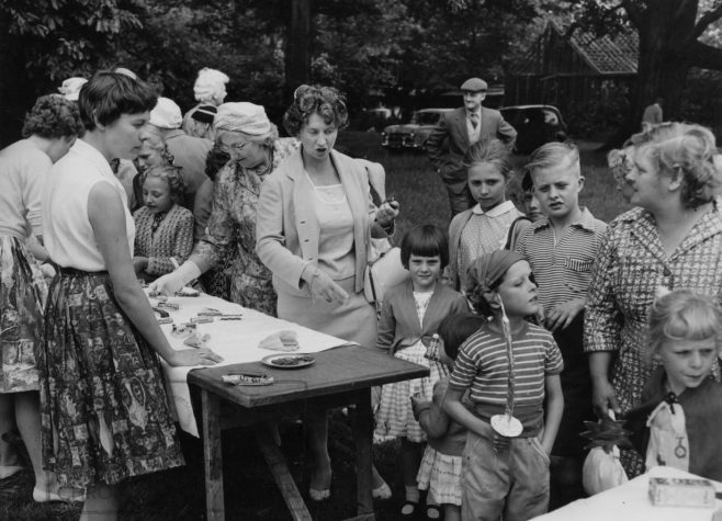 Garden Party 1960- Olwen George and her mother, extreme right