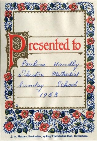 Book plate in Sunday School prize | Private collection