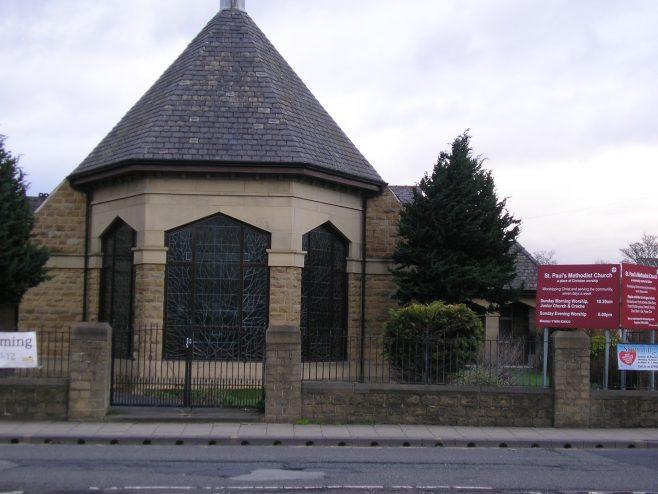 Huddersfield, Wakefield Road, Moldgreen  St Paul's Methodist Church, apse, 28.02.2017   G W Oxley