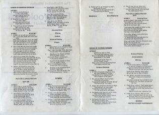 Hymn Sheet | Eastbrook Hall