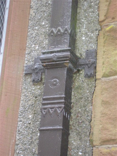 Cleator Moor Methodist chapel, decorative iron fallpipe, 23.9.2017 | G W Oxley