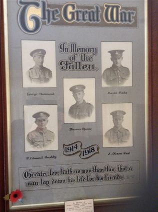 West Burton Chapel WW1 Memorial | click to enlarge