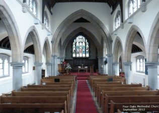 Four Oaks Methodist Church Interior